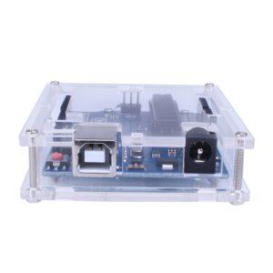 Clear Acrylic Box Enclosure Transparent Case Shell F Arduino Uno R3 Board Module, UNO Not Inlcuded