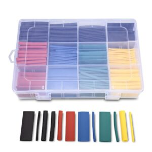 530pcs Heat Shrink Tubes Insulated Wire Cable Sleeving Wrap