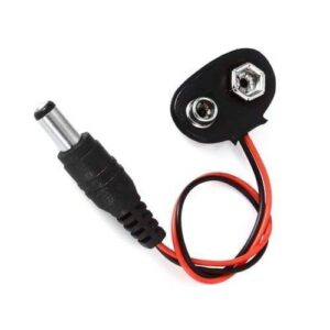 Battery Snap Power Cable To DC 9V For Arduino